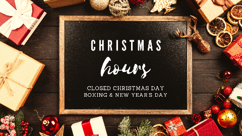 Christmas & New Year's Hours